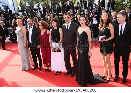 CANNES, FRANCE - MAY 24: Nuri Bilge Ceylan attend the Closing Ceremony and 'A Fistful of Dollars' Screening during the 67th Annual Cannes Film Festival on May 24, 2014 in Cannes, France. - stock photo