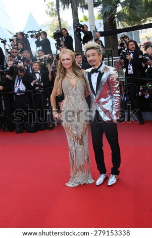 CANNES, FRANCE - MAY 18: Paris Hilton and Sun Zu Yang  attend the Premiere of 'Inside Out' during the 68th annual Cannes Film Festival on May 18, 2015 in Cannes, France.
