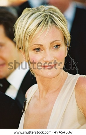 CANNES, FRANCE - MAY 26: Patricia Kaas arrive at the closing night of the Cannes Film Festival, May 26, 2002 in Cannes, France - stock photo