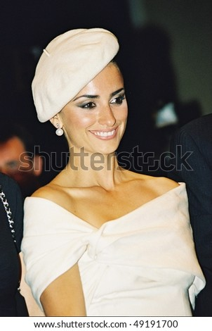 CANNES, FRANCE - MAY 16: Penelope Cruz leaves the premiere of 'Non Ti Muovere' at the Palais des Festivals during the 57th Annual International Cannes Film Festival May 16, 2004 in Cannes, France - stock photo