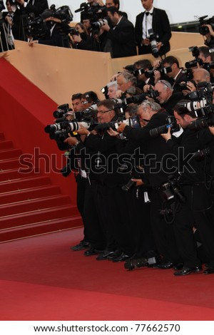 CANNES, FRANCE - MAY 18: Photographer attend the 'La Conquete' premiere during 64th Annual Cannes Film Festival at Palais des Festivals on May 18, 2011 in Cannes, France