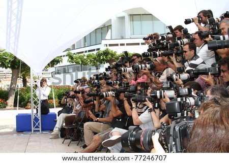 CANNES, FRANCE - MAY 12: Photographer attend the Un Certain Regard Jury Photocall during the 64th Annual Cannes Film Festival on May 12, 2011 in Cannes, France - stock photo