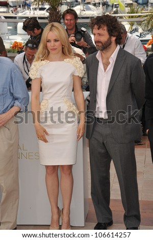 "CANNES, FRANCE - MAY 11, 2011: Rachel McAdams & Michael Sheen at the photocall for their new movie ""Midnight in Paris"" at the 64th Festival de Cannes. May 11, 2011  Cannes, France"