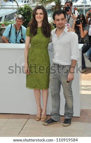 "CANNES, FRANCE - MAY 17, 2009: Rachel Weisz & Alejandro Amenabar at the photocall for their new movie ""Agora"""