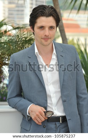 "CANNES, FRANCE - MAY 25, 2012: Raphael Personnaz at the photocall for his new movie ""Three Worlds"" in competition at the 65th Festival de Cannes. May 25, 2012  Cannes, France"