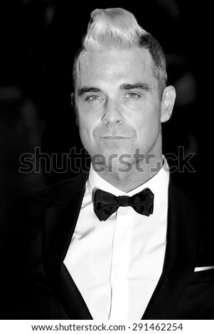 CANNES, FRANCE- MAY 16: Robbie Williams attends 'The Sea Of Trees' Premiere during the 68th Cannes Film Festival on May 16, 2015 in Cannes, France. - stock photo