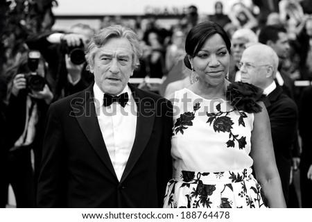 CANNES, FRANCE - MAY 14 : Robert De Niro attends with his wife Grace Hightower the premiere of 'Pirates of the Caribbean' at the 64th Cannes Film Festival on May 14, 2011 in Cannes - stock photo