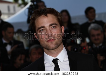 CANNES, FRANCE - MAY 23: Robert Pattinson attends the 'On The Road' Premiere during the 65th Annual Cannes Film Festival at Palais des Festivals on May 23, 2012 in Cannes, France. - stock photo