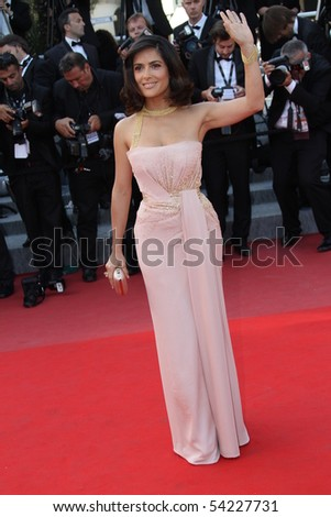 CANNES, FRANCE - MAY 23: Salma Hayek attends the Palme d'Or Closing Ceremony held at the Palais des Festivals during the 63rd  Cannes Film Festival on May 23, 2010 in Cannes, France - stock photo