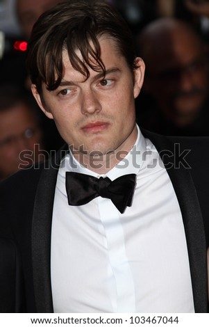 CANNES, FRANCE - MAY 23: Sam Riley attends the 'On The Road' Premiere during the 65th Cannes Film Festival at Palais des Festivals on May 23, 2012 in Cannes, France. - stock photo