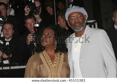 CANNES, FRANCE - MAY 22:  Samuel L. Jackson and his wife LaTanya Richardson attend the 'X-Men 3' premiere at the Palais des Festivals during the 59th  Cannes  Festival May 22, 2006 in Cannes, France - stock photo