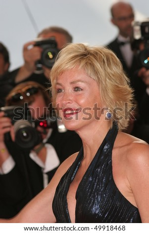 CANNES, FRANCE - MAY 22:  Sharon Stone attends the premiere of the film 'Le Scaphandre Et Le Papillon' at the Palais des Festivals during the 60  Cannes Film Festival on May 22, 2007 in Cannes, France