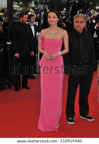 "CANNES, FRANCE - MAY 17, 2009: Shu Qi  at the premiere of ""Vengeance"" in competition at the 62nd Festival de Cannes."