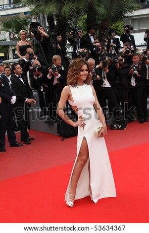 CANNES, FRANCE - MAY 21:Singer Cheryl Cole attends the 'Outside the Law' premiere at the Palais des Festivals during the 63rd  Cannes Film Festival on May 21, 2010 in Cannes, France - stock photo