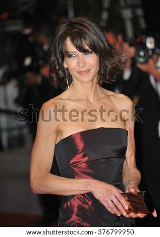 "CANNES, FRANCE - MAY 20, 2014: Sophie Marceau at the gala premiere of ""Coming Home"" at the 67th Festival de Cannes."
