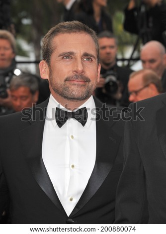 "CANNES, FRANCE - MAY 19, 2014: Steve Carrell at the gala premiere of his movie Foxcatcher"" at the 67th Festival de Cannes."