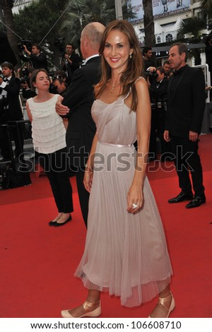CANNES, FRANCE - MAY 22, 2011: Svetlana Metkina at the 64th Festival de Cannes awards gala. May 22, 2011  Cannes, France