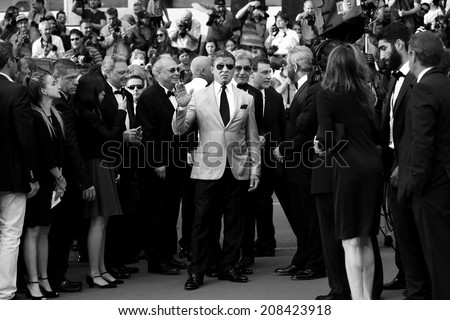 CANNES, FRANCE - MAY 18: Sylvester Stallone attends 'The Expendables 3' Premiere during the 67th Cannes Film Festival on May 18, 2014 in Cannes, France. - stock photo