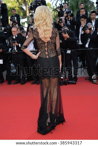 "CANNES, FRANCE - MAY 17, 2015: Victoria Silvstedt at the gala premiere of ""Carol"" at the 68th Festival de Cannes."