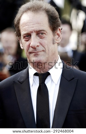 CANNES, FRANCE- MAY 18: Vincent Lindon attends 'The Measure of a Man' premiere during the 68th Cannes Film Festival in Cannes, France, on May 18, 2015.