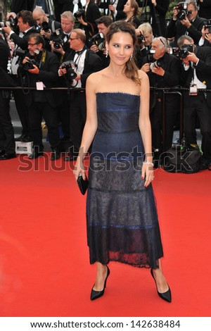 "CANNES, FRANCE - MAY 16, 2013: Virginie Ledoyen at the gala premiere of ""Young & Beautiful"" (""Jeune & Jolie"") in competition at the 66th Festival de Cannes."