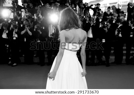 CANNES, FRANCE- MAY 18: Weronika Zalazinska attends the 'Inside Out' premiere during the 68th Cannes Film Festival on May 18, 2015 in Cannes, France. - stock photo