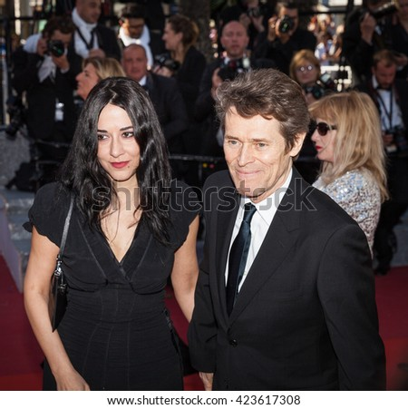 Cannes, France - 19 MAY 2016 - Willem Dafoe and his wife, Giada Colagrande attend the 'Graduation (Bacalaureat)' Premiere during the 69th annual Cannes Film Festival