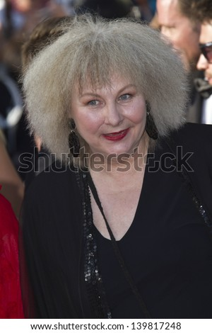 CANNES, FRANCE - MAY 23: Yolande Moreau attends the 'Nebraska' premiere during The 66th Cannes Film Festival at the Palais des Festival on May 23, 2013 in Cannes, France. - stock photo