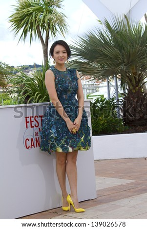 CANNES, FRANCE - MAY 16: Zhang Ziyi attends the Jury 'Un Certain Regard' Photocall during the 66th  Cannes Film Festival at the Palais des Festivals on May 16, 2013 in Cannes, France. - stock photo