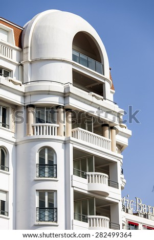 CANNES, FRANCE, on MARCH 12, 2015. Architectural details