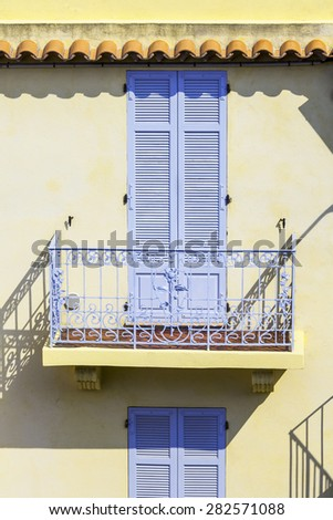 CANNES, FRANCE, on MARCH 12, 2015. Architectural details - stock photo
