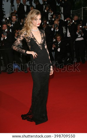 CANNES - MAY 26, 2013: Cara Delevingne seen at the Cannes film festival on May 26, 2013 in Cannes