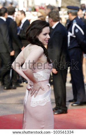 CANNES  - MAY 26: Emily Hampshire at the premiere of 'Mud' during the 65th Cannes Film Festival on May 26, 2012 in Cannes, France - stock photo