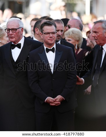 CANNES - MAY 21, 2013: Matt Damon attends the Behind the Candelabra Premiere - The 66th Annual Cannes Film Festival on May 21, 2013 in Cannes