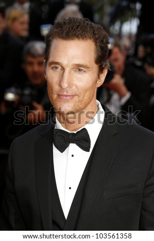 CANNES  - MAY 26: Matthew McConaughey at the premiere of 'Mud' during the 65th Cannes Film Festival on May 26, 2012 in Cannes, France - stock photo