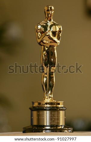 CANNES - MAY 15: This Oscar statue belonging to Jerry Lewis is on display in Cannes, France on May 15, 2009 - stock photo