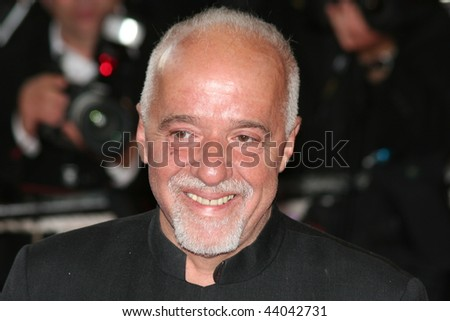 CANNES - MAY 23:Writer Paulo Coelho arrives for the Synecdoche, New York premiere at the Palais des Festivals during the 61st International Cannes Film Festival on May 23, 2008 in Cannes - stock photo