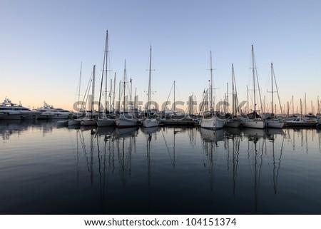 Cannes port - stock photo