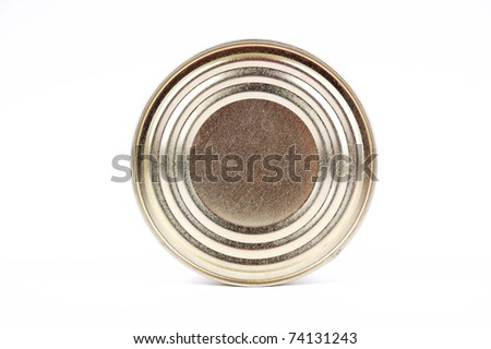 canning jar on a white background - stock photo