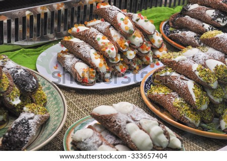 Cannoli Siciliani sweets form Sicily in Italy