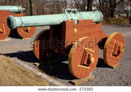 Cannon at Akershus fortress in Oslo, Norway