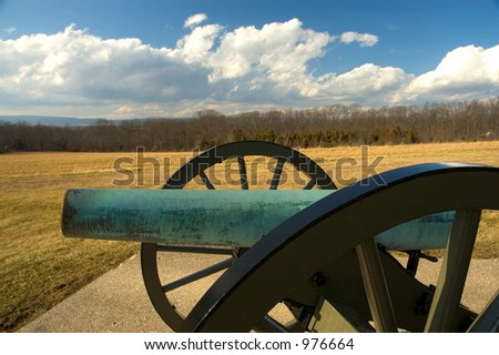 Cannon at gettysburg - wide