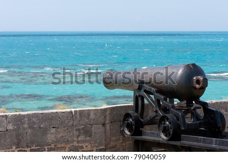 Cannon at The Commissioner's House in Bermuda