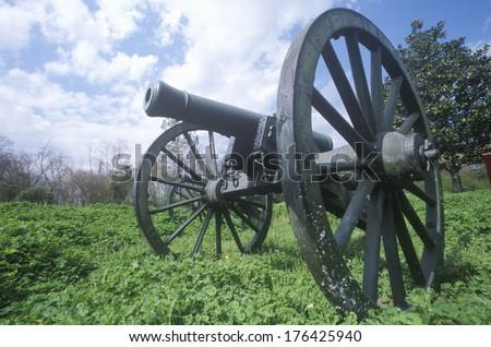 Cannon at Vicksburg National Military Park, Mississippi - stock photo
