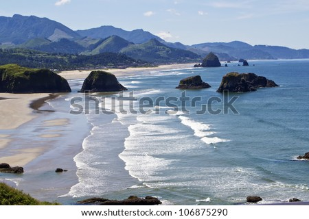 Cannon Beach Oregon - stock photo