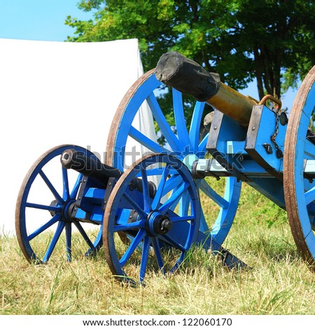 Cannon from napoleonic war times. Operational reproduction