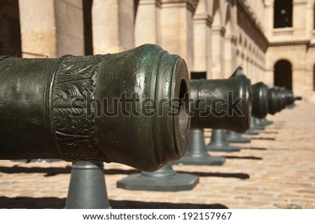 cannon invalides museum in Paris