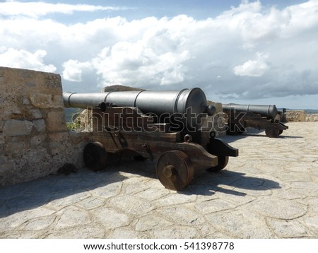 Cannons in the old city of Ibiza