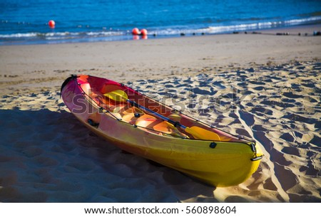 canoe at the beach