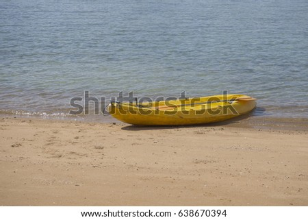 Canoe on the tropical beach